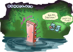 Skinny DIP Cartoon