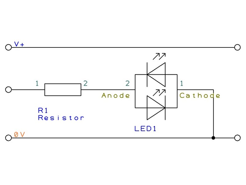 bi-colour led - circuit creator