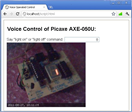 Voice Operated Internet Control of a PICAXE